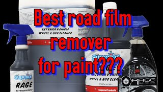 Superior Products Rage- best road film remover for your paint? See for yourself!