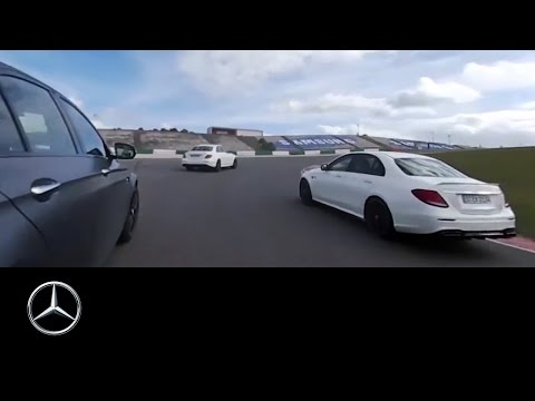 360° race video of the Mercedes-AMG E 63 S 4MATIC+ – Mercedes-Benz original.