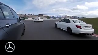 360° race video of the Mercedes AMG E 63 S 4MATIC+ – Mercedes Benz original