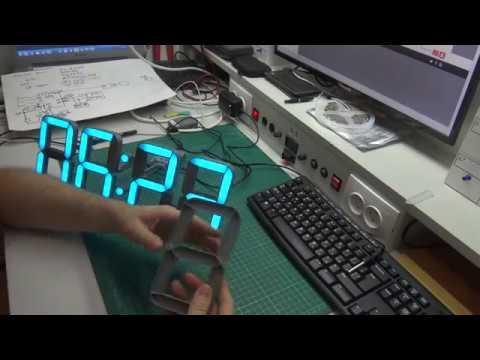 Часы на адресной светодиодной ленте