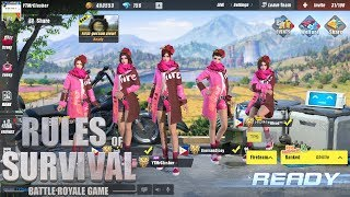 Rules of Survival - RAGING DRAGON LADY SUIT SQUAD CHALLENGE!