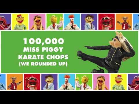 100,000 Miss Piggy Karate Chops | The Muppets