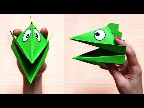 Dino hand puppet from paper | Maison Zizou