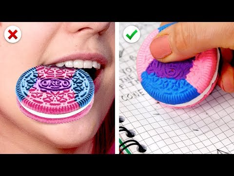 22 Fun And School Supplies DIY Back To School Hacks BY 5 MINUTE CRAFTS ZONE