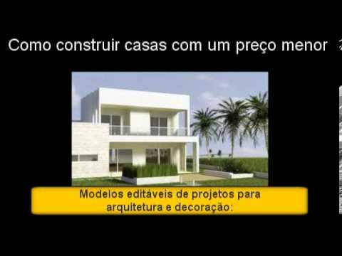 Como Construir Casas Com Um Pre O Menor Plantas Casas