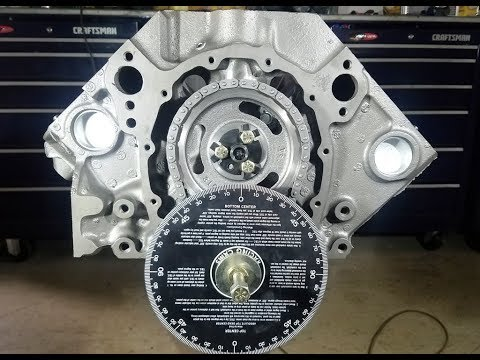 Engine Building Part 3   Installing and Degreeing the Cam 350 Chevy Small Block