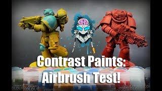 Contrast Paints: Airbrush Test