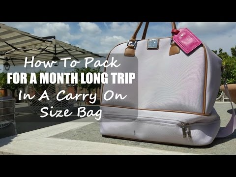 HOW TO PACK FOR A MONTH LONG TRIP IN A CARRY ON SIZE BAG | PACKING LIGHT FOR MY EUROPE TRIP