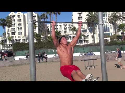Working Out at Santa Monica Pier