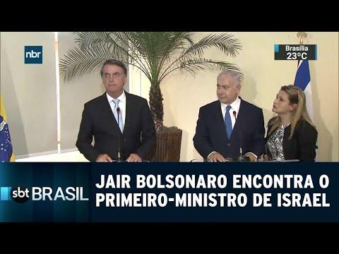 Jair Bolsonaro Encontra O Primeiro-ministro De Israel | SBT Brasil (28/12/18)