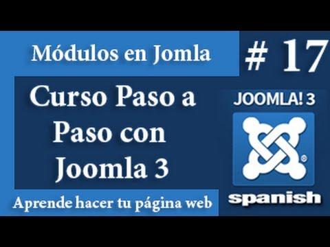 Gestor de menú y módulos en Joomla