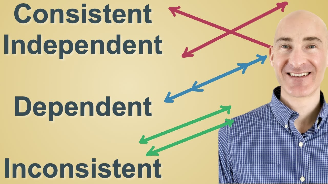 Consistent Independent, Dependent and Inconsistent - YouTube