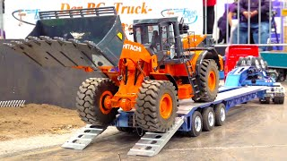RC TRUCKS, TRUCKS, TRUCKS // BIG RC WHEEL LOADER // HEAVY HAULAGE RC TRANSPORT // HITACHI // ACTROS