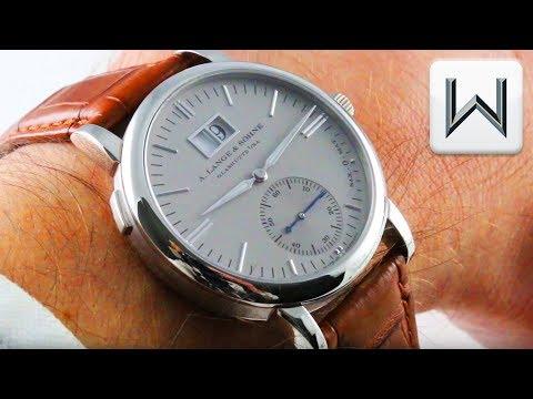 A. Lange \u0026 Sohne Saxonia Langematik Micro Rotor Platinum (308.025) Luxury Watch Review