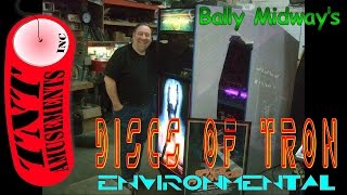 #928 Bally Midway DISCS OF TRON Rare ENVIRONMENTAL Arcade Video Game! TNT Amusements