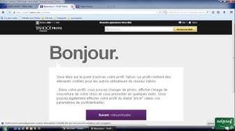 2a - Ouvrir Yahoo mail, présentation de l'interface.
