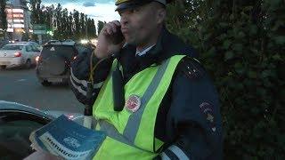 Конкретный полицейский сбежал от пешеходов