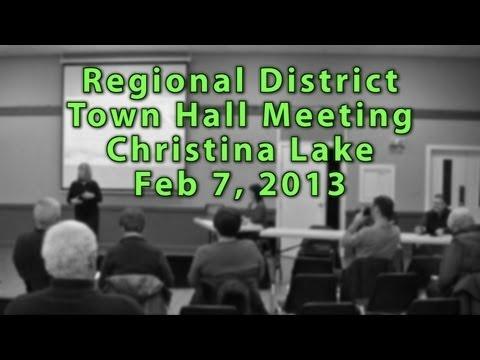 RDKB Townhall Meeting Christina Lake