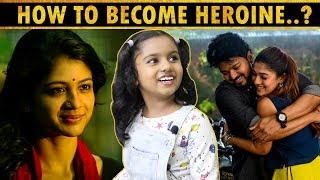Imitates: Bigil Nayanthara Dialogue & Aruvi Climax Scene in OneTake..! | Baby Kaavya Interview | TOC