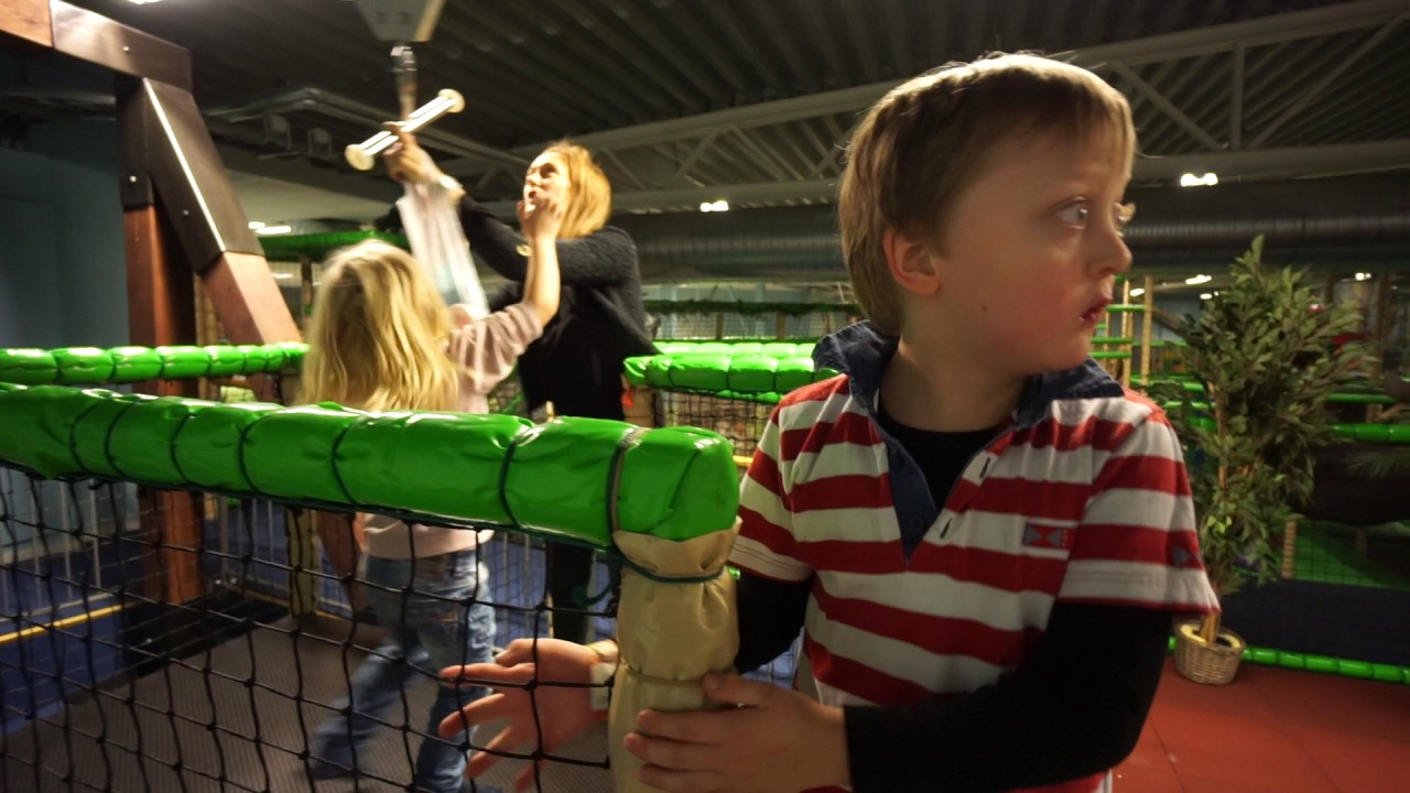 Sweden Täby Leos Lekland Trying Out The Indoor Zipline Youtube