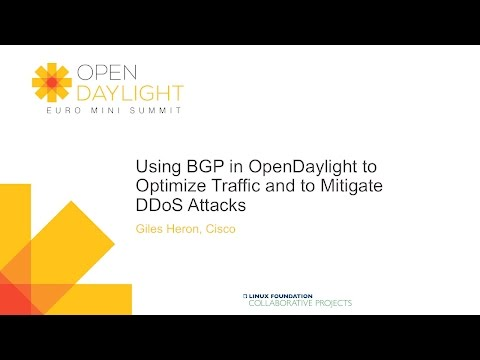 Using BGP in OpenDaylight to Optimize Traffic and to Mitigate DDoS Attacks