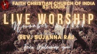 FCCIndia Live Worship 11/15/2020 | FCCI St. Louis