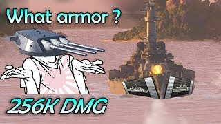 YAMATOOO Round 2 [256k dmg 3 cits only] - Jolly Roger Adv #7.5 (World of Warships Gameplay)