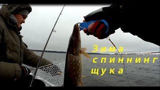 Зимняя рыбалка с лодки - Щука