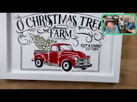 O Christmas Tree Double Board Chalk Couture Youtube
