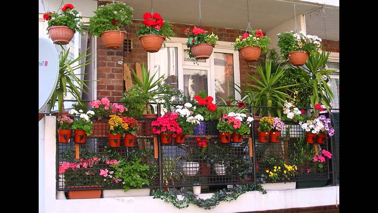 garden ideas balcony plant pots ideas youtube - Flower Garden Ideas In Pots