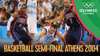 USA v Argentina - Men's Basketball Semi-Final | Athens 2004 Replays