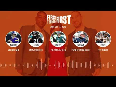 First Things First audio podcast (1.15.18) Cris Carter,Nick Wright,Jenna Wolfe | FIRST THINGS FIRST