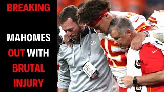 BREAKING NEWS | Patrick Mahomes OUT With BRUTAL Knee Injury