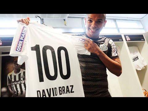 David Braz completa 100 jogos com a camisa do Santos
