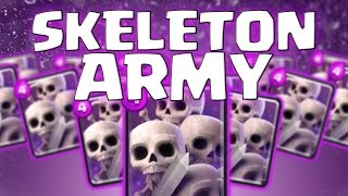 Clash Royale - ALL SKELETONS ONLY!!! | Skeleton Army Raids|