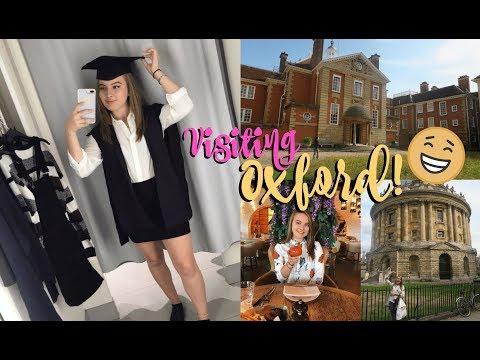MY FIRST OXFORD UNI VLOG! Buying My Gowns + College Tour! | First Year Fresher 2018!