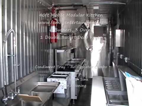 See 40ft Modular Kitchen Ktichen- Mobile Kitchen for Rentals