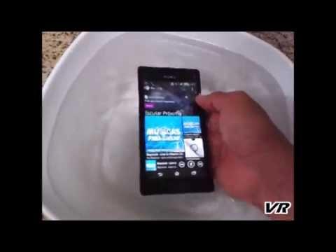 Teste do Sony Xperia M2 Aqua - D2403 - Water test