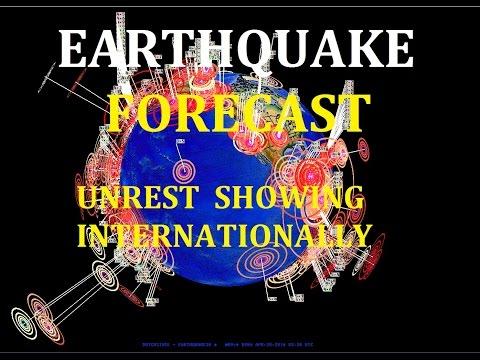 4/20/2016 -- Global Earthquake Forecast -- Major Unrest , West Coast USA + Japan