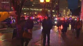 BREAKING: One person killed, 7 others injured in downtown Seattle shooting. Suspect still at large.
