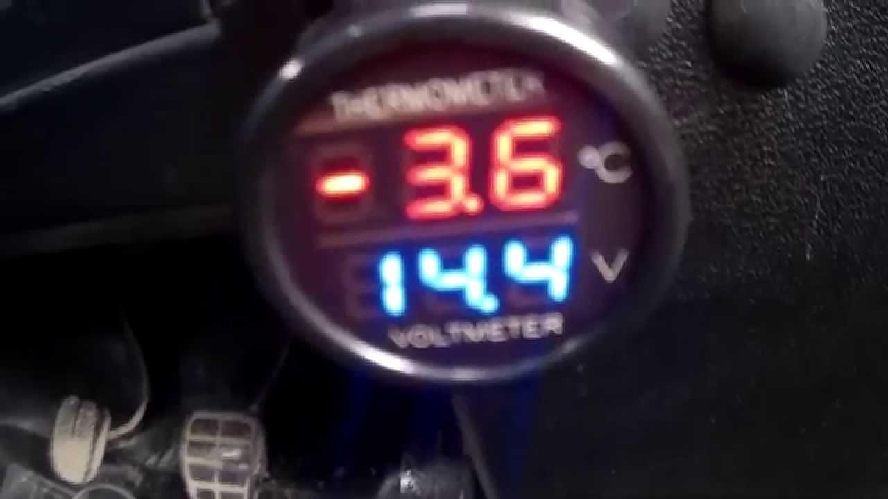 Вольтметр, часы, термометр - YouTube