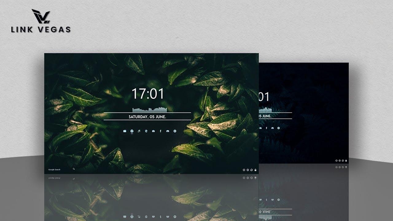 Give Your Desktop The Cool Vibe | Elegant Clean Look 2021 | Windows 10 Customization | Rainmeter