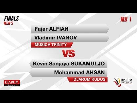 FINALS  | MD1 L FAJAR / VLADIMIR  (MUSICA TRINITY) VS KEVIN / AHSAN  (DJARUM KUDUS)