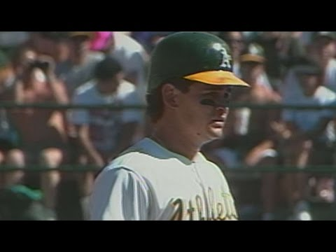 1990ALCS Gm4: Gallego drives in two with double