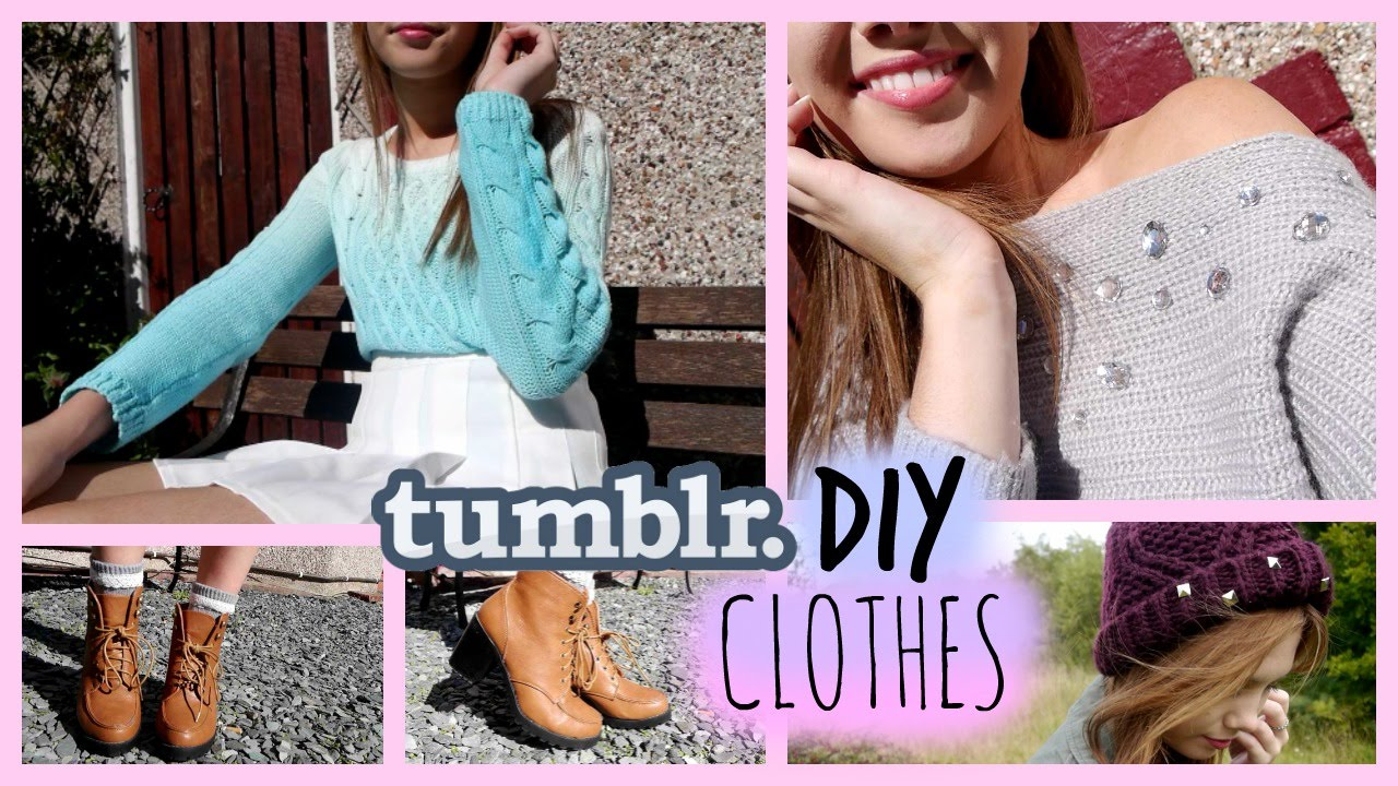 DIY Clothes • Tumblr Inspired! - YouTube