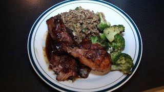 Cooking With Kade, Grilled Chicken, Country Style Ribs, Dirty Rice, Broccoli On Cajun Tv Network