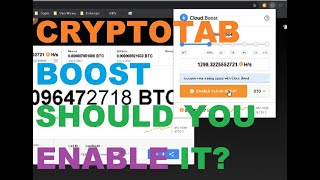 CryptoTab Boost - Should you Enable it?
