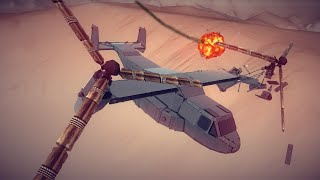V-22 Osprey Shot Down | Besiege