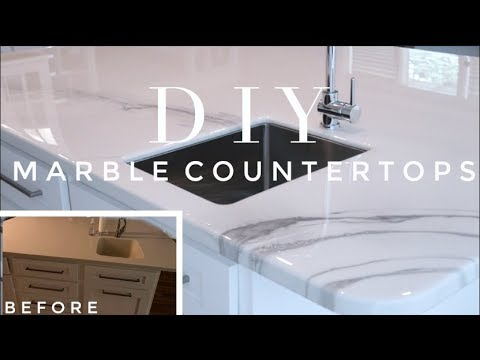 DIY MARBLE COUNTERTOP TRANSFORMATION | How-To Epoxy
