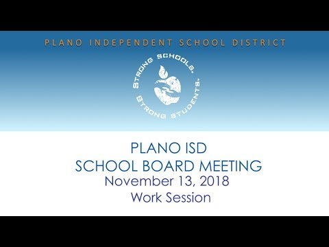 School Board Work Session - November 13, 2018
